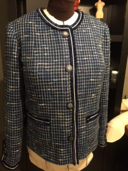 Jacket Front with Trim