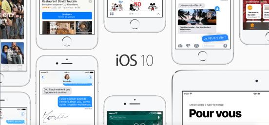 Les Nouveautés iOS 10 que j'apprécie le plus