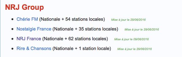 Liste Radio