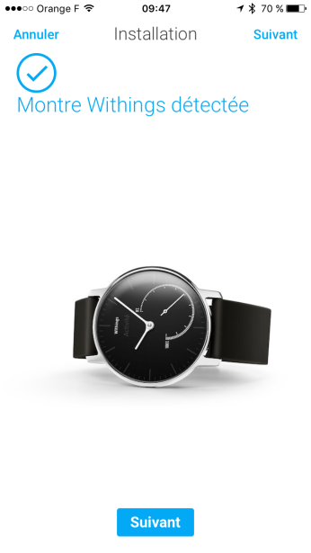 Withings détectée