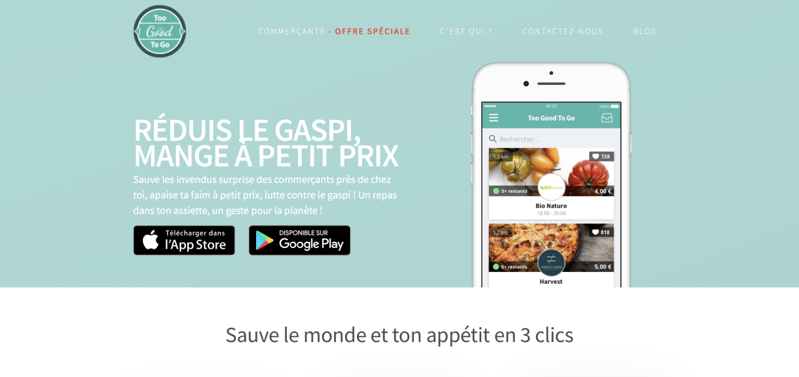 Too Good To Go : Lutter contre le gaspillage alimentaire