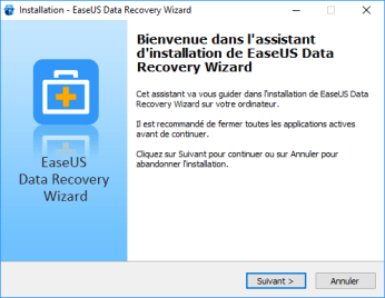 Installation EaseUS Data Recovery Wizard