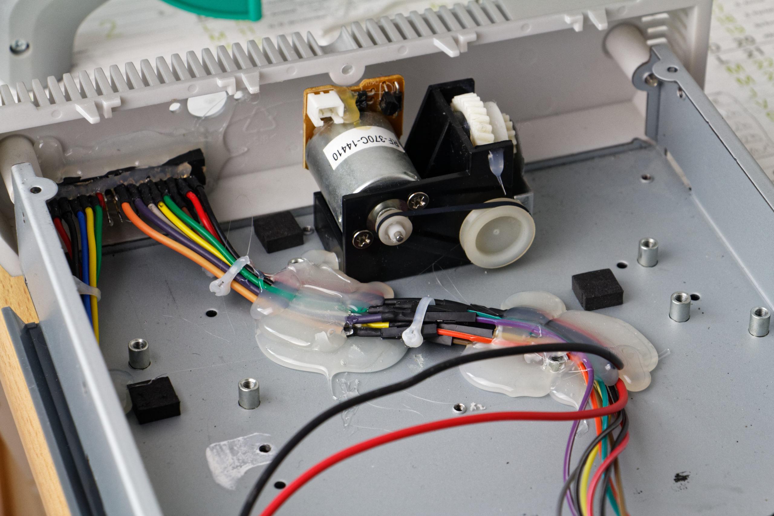 Câblage et installation de la partie supérieure