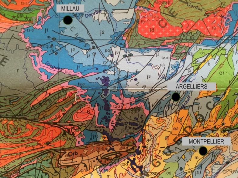 Argelliers carte géologie