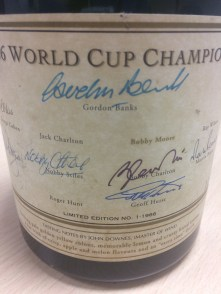 Limited Edition Magnum of Jacquart Mosaique signed by 1966 England players