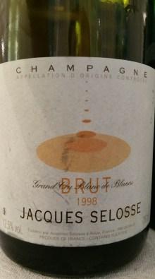 Champagne Selosse Brut 1998