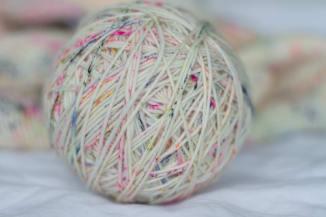 Ball of confetti yarn