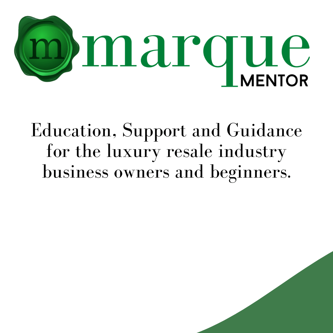 Marque Mentor for the luxury resale industry
