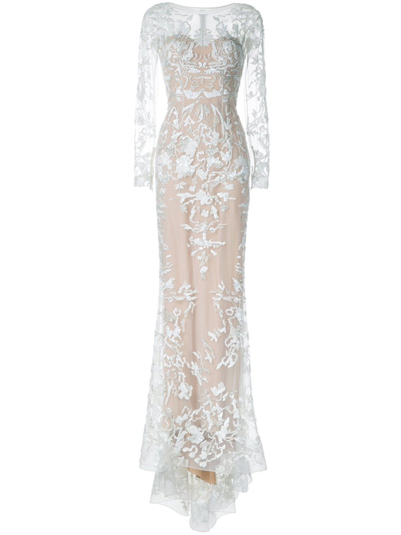 Zuhair Murad $16 thousand dollar embellished fishtail gown