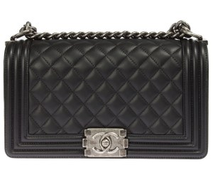 black caviar Chanel boy flap in medium size