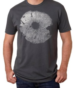 b plus spore print screen printed men's t shirt from Closet of Mysteries