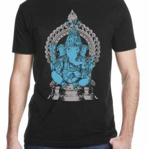 ganesha drawing screen printed men's t shirt from Closet of Mysteries