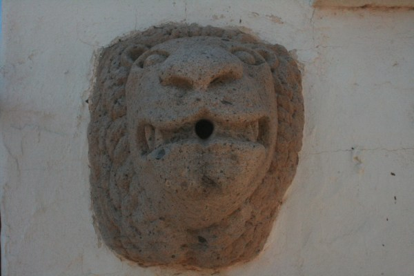 Lion head at San Xavier del Bac mission in Tucson