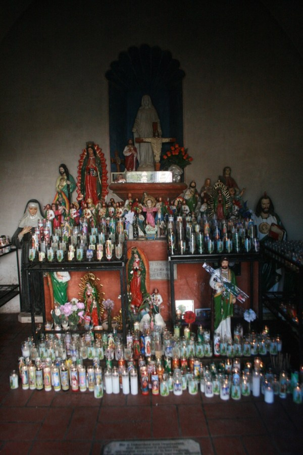 Shrine at San Xavier del Bac mission in Tucson AZ