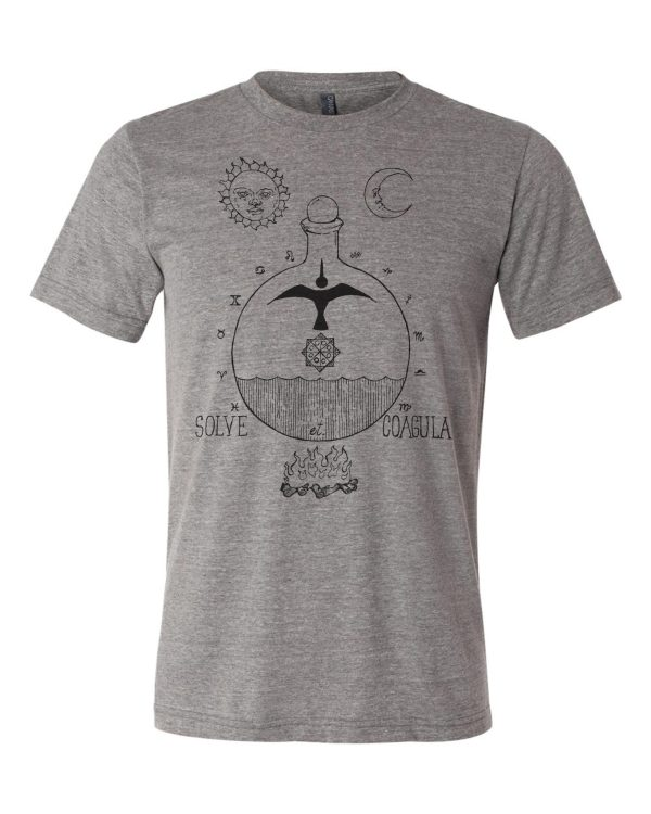 solve et coagula shirt triblend grey from closet of mysteries