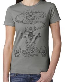 Women's Mushroom shaman shirt original design by Closet of Mysteries
