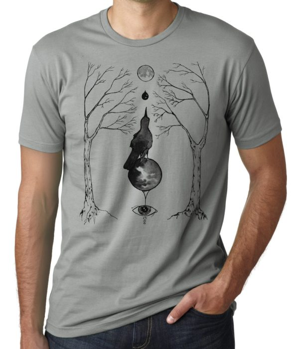 magical grackle shirt occult artwork by Closet of Mysteries