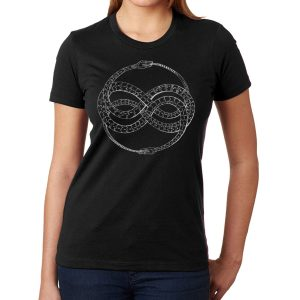 Ladies' ouroberos shirt design by Closet of Mysteries