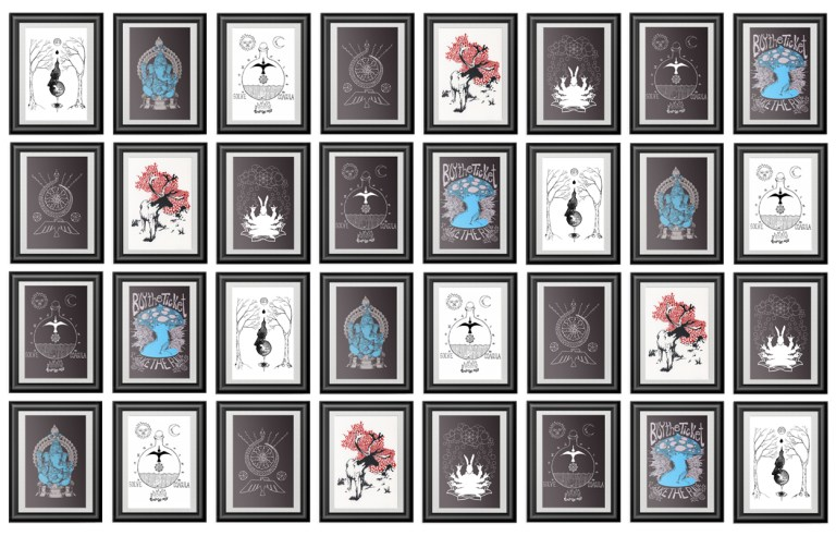 screen printed posters from Closet of Mysteries