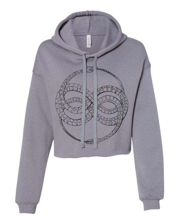 Ouroboros Hoodie Women's Crop Top Sweatshirt