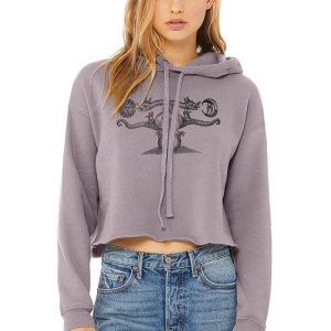 Alchemy Dragon Crop Top Hoodie by Closet of Mysteries