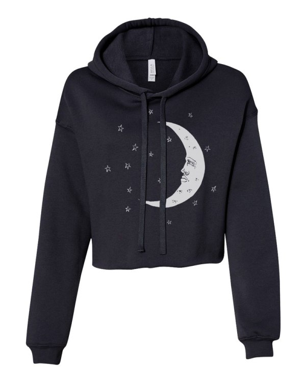 Moon Crop Hoodie by Closet of Mysteries