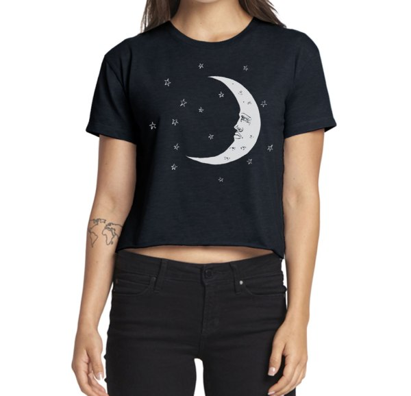 Moon Crop Top shirt by Closet of Mysteries
