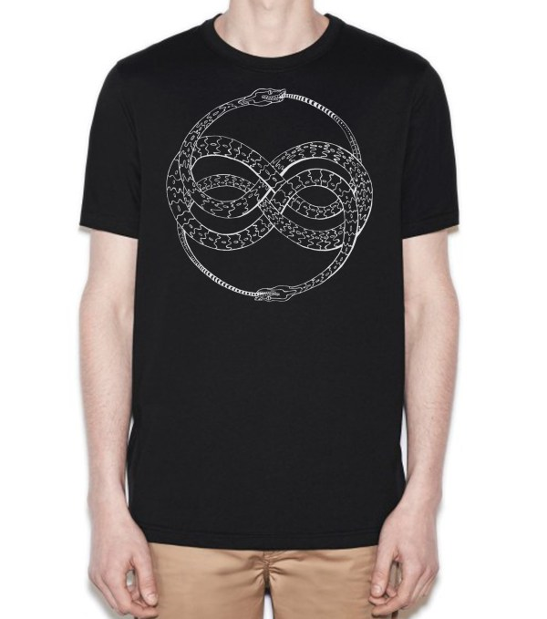 Ouroboros cotton tee by Closet of Mysteries
