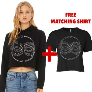Ouroboros Crop Hoodie by Closet of Mysteries