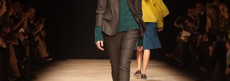 Fashion Show Runway Woman in Pantsuit