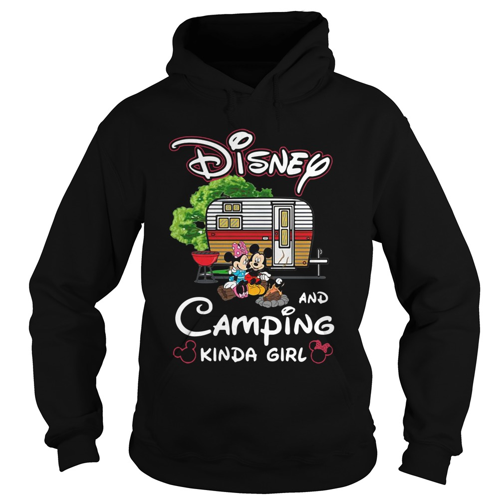 mickey minnie disney camping kinda girl hoodie - Mickey And Minnie Disney and camping kinda girl shirt