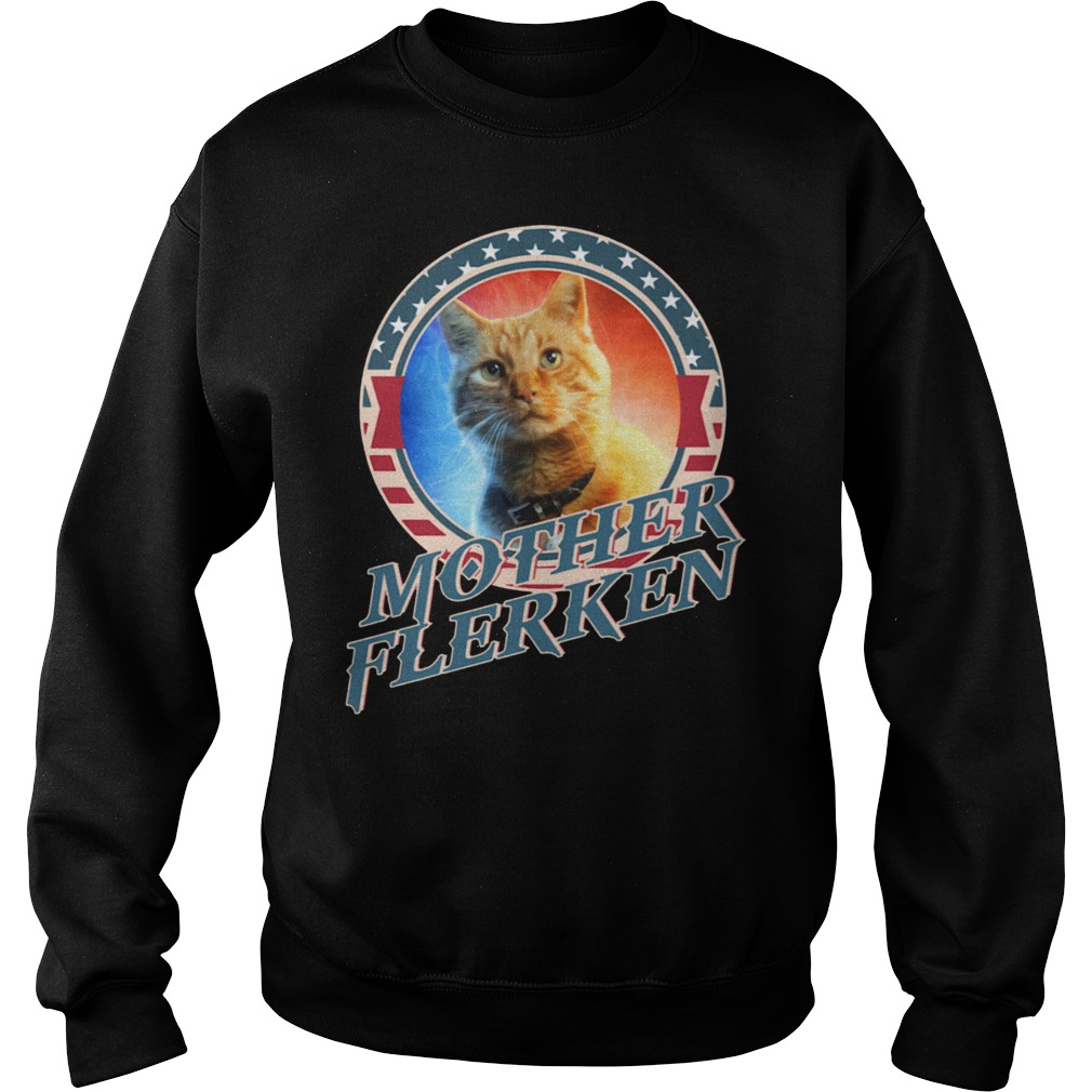 Captain Marvel Goose The Motherflerken Cat sweatshirt