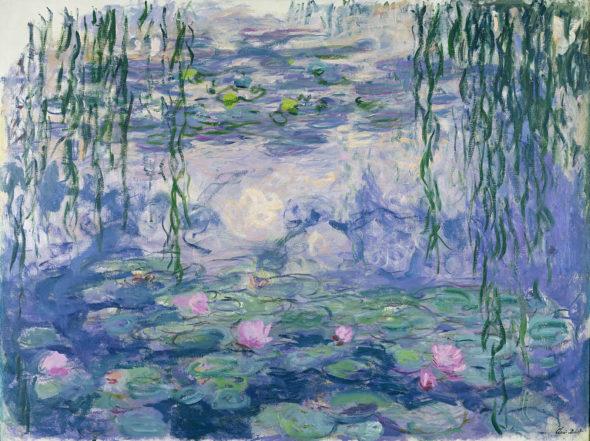 Claude Monet (1840-1926), Nymphéas, vers 1916-1919. Huile sur toile, 150×197 cm. Paris, musée Marmottan Monet, legs Michel Monet, 1966. © Musée Marmottan Monet, Paris / Bridgeman Images.