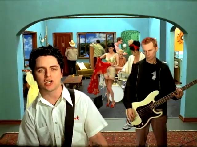 palazzo magnani Green Day, Redundant, videoclip' s frame, 1998.