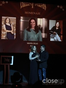 """""""A todos los que dan la vida por el cine, gracias"""", dijo María Rojo durante su homenaje."""
