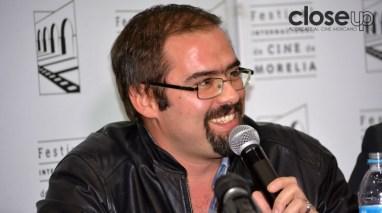 Diego Ros, director de El vigilante, en competencia de ficción (Foto: Amelia Rojas)