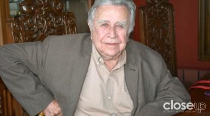 El artista Manuel Felguérez asistió al estreno del documental dirigido por Miguel Ángel Tobías y estrenado en el 14° FICM (Foto: Amelia Rojas)