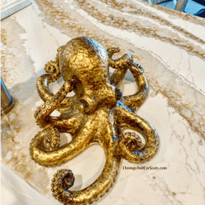 Custom Octopus Tentacle Quartz Countertop