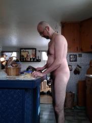 NudeFab chopping up veggies