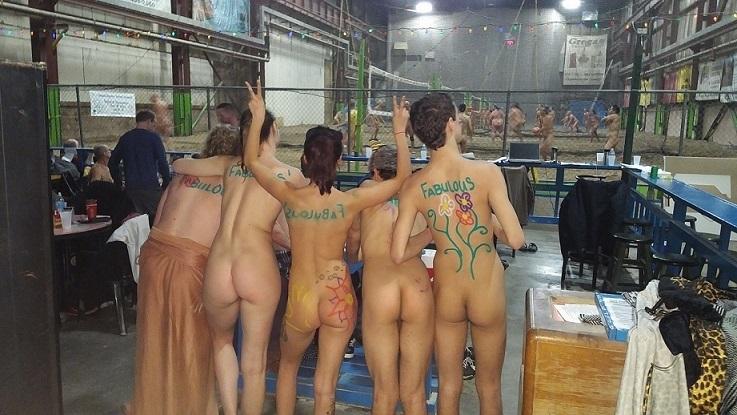 Nude Indoor Volleyball