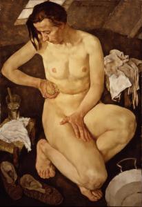 """Morning Toilette"" 1930 Lotte Laserstein Source: https://theartstack.com/artist/lotte-laserstein/morning-toilette-1930"