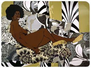 """""""A Little Taste Outside of Love"""" 2007 - Mickalene Thomas"""
