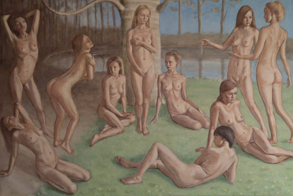 Feast of Venus - Reimagined, 150cm x 100cm, oil on linen