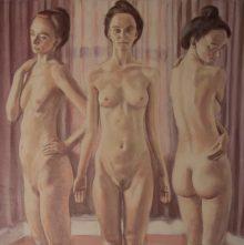 Maxine - The Three Graces, 80cm x 80cm, oil on linen