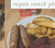 spicy vegan snack plate