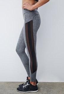 Heathered Mesh-Paneled Leggings - $22.90, Forever 21