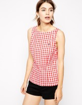 Fred Perry Sleeveless Gingham Top - $95, Asos