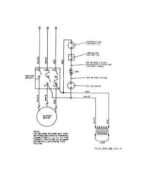 Figure 16 Water heater wiring diagram