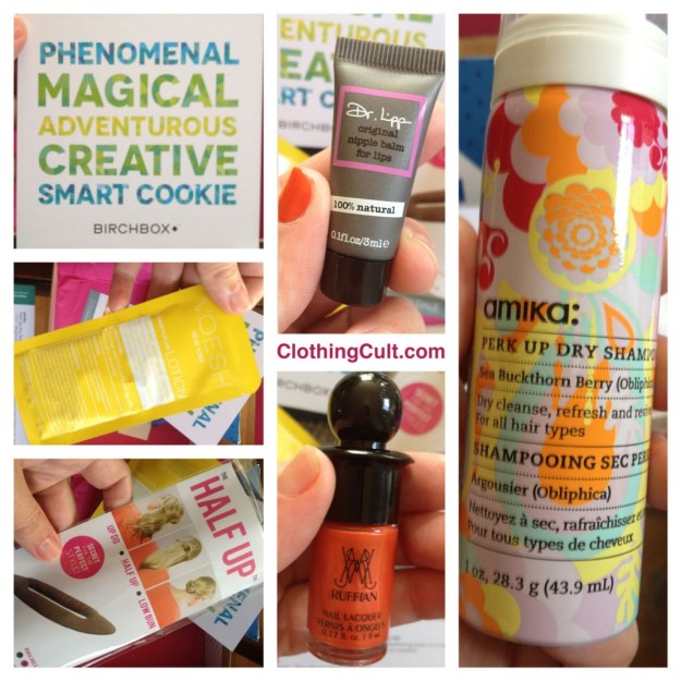 Birchbox September 2013 REVIEW & SWATCHES • RUFFIAN Nail Lacquer in Fox Hunt • Dr. Lipp Original Nipple Balm for Lips • amika Obliphica Perk Up Dry Shampoo • VOESH New York Aroma Spa Pedicure Lotion