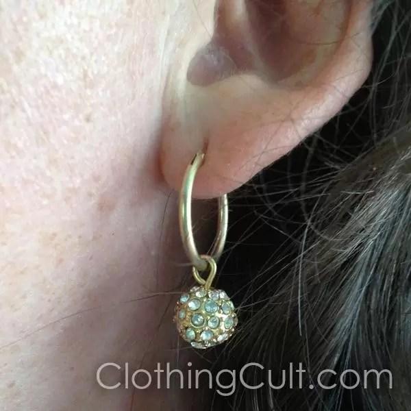 Chaps clearance hoop earrings at Kohls